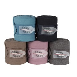 Eskadron Bandagen Fleece CS HW 17 aquamarine orchidmauve navy darktaupe anthra melange